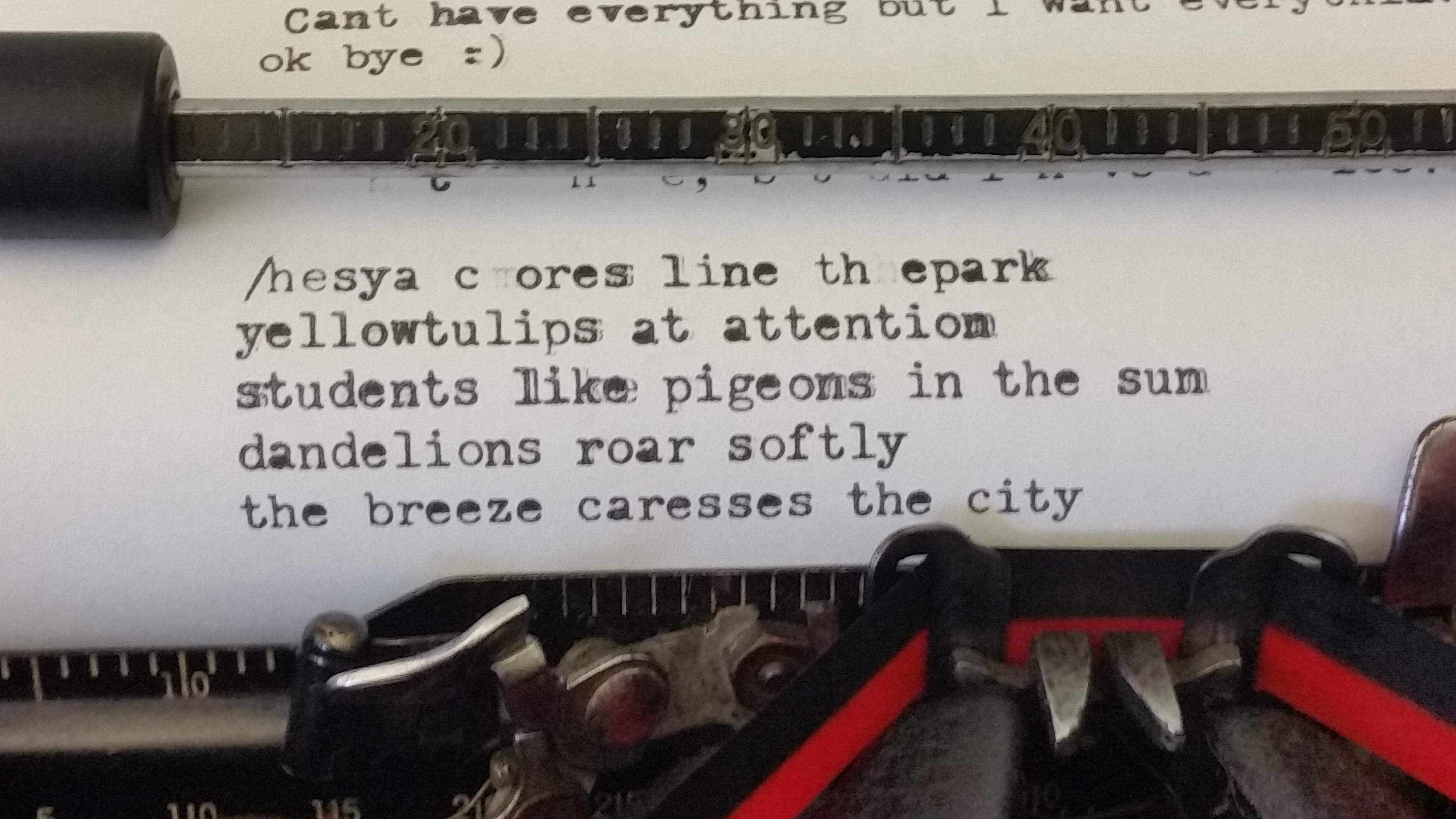 Carnegie library typewriter